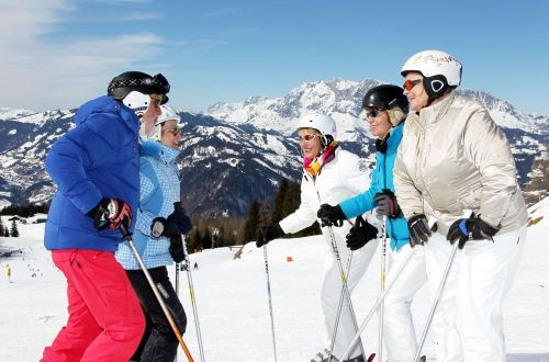 Skiing fun for best agers